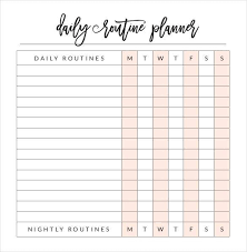 Daily Planner Sheets 31 Daily Planner Templates Pdf Doc Free Premium