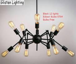 wrought iron lighting fixture spider chandelier vintage wrought iron pendant lamp loft style lighting fixture bulbs