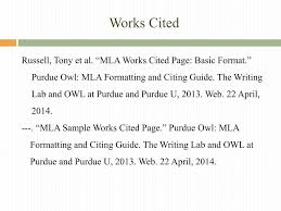 Ppt The Works Cited Page Powerpoint Presentation Id2494979