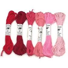Soie D Alger Colour Chart Soie Dalger 6 Shades Pack Pink