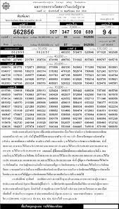 ตรวจหวย ตรวจผลสลากกินแบ่งรัฐบาล 16 พฤศจิกายน 2549 ใบตรวจหวย 16/11/49