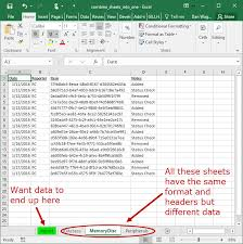 Combine Data from Multiple Sheets to A Sheet | Dan Wagner Co