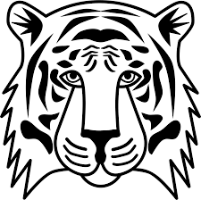 tiger head clip art black and white. Tiger Head Drawing At GetDrawingscom Free For Personal Use In Clip Art Black And White