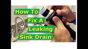 How To Fix Bathroom Sink Drain Leaks Underneath Gasket Threads