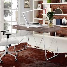 Unique home office desks Build In Cable Management Furniture Wood And Metal Desk Home Office Ideas Canadianartcom Furniture Unique Home Office Desks Creative Desks Modern Desk