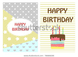Postcards For Birthday Happy Birthday Bright Cheerful Templates Postcards Stock