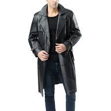 bgsd men s xander classic leather long trench coat 0