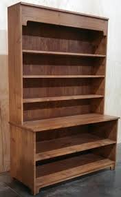 Hutch Display Cabinet Rustic Wood Retail Store Product Display Fixtures Shelving