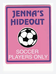 Personalized GIRLS SOCCER Bedroom Door SIGN i need this Ahhhhh