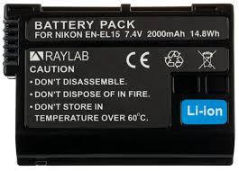 Купить <b>Аккумулятор Raylab RL-ENEL15</b> 2000мАч (для D810 ...