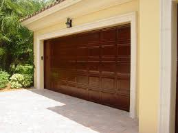 image of faux wood garage doors design