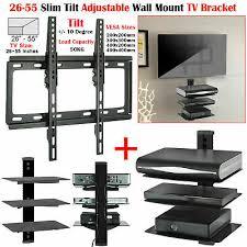 tv wall bracket fixed tilt swivel lcd