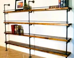 Industrial Shelving Unit - Industrial Bar - Industrial bookcase - Industrial  bookshelves - pipe shelving unit
