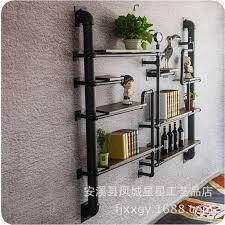 Bookshelf design of industrial water moving shelves clothing rack wine rack  wine shelves display rack fashion