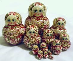 red matryoshka babushka wooden nesting dolls with flowers 15pc 53 00 globebids uk