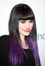 Dip Dye Black Hair Purple