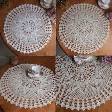 60cm pop vintage cotton round hand crochet lace doily placemat flower tablecloth