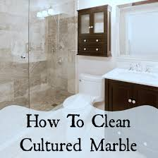 cultured marble what to clean it with