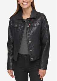 levi s buffed cow faux leather jacket