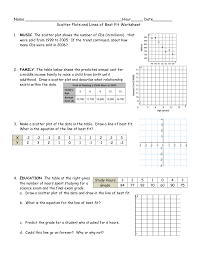Scatter Plots Worksheet With Answers Worksheets for all | Download ...
