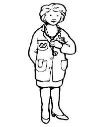 female doctor in community helpers colouring page   fun colouringcommunity helpers    female doctor in community helpers colouring page