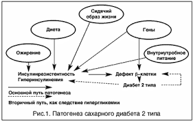Современные принципы лечения сахарного диабета типа Статьи по  В отличие от этого сахарный диабет i типа является аутоиммунным заболеванием когда имеется абсолютный дефицит инсулина в результате деструкции b клеток