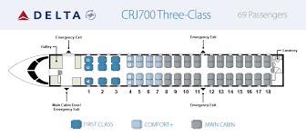 Crj7 Seating Chart Aircraft Skywest Airlines