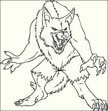Small Picture Free Printable Werewolf Coloring Pages Color Zini