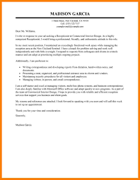 Help Cover Letter Receptionist