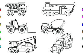 dump truck coloring pages printable construction trucks worker my little