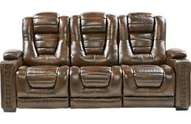 contemporary furniture sofa. Eric Church Highway To Home Renegade Brown Leather Power Plus Reclining Sofa Contemporary Furniture Sofa W