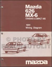 late 1991 mazda 626 and mx 6 wiring diagram manual original 1991 mazda 626 wiring diagram at 1991 Mazda 626 Wiring Diagram