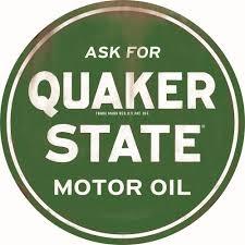 Quaker State Motor Oil Tin Sign Green 90169012 Free