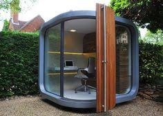 tiny backyard home office. who would fancy one of these office pods in their garden tiny backyard home