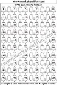 Missing Numbers Worksheets Numbers Missing Free Printable Worksheets Worksheetfun
