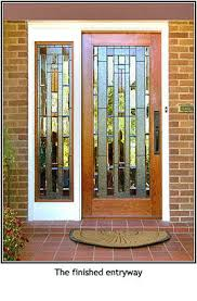 mission style front doorStained Glass Window PanelCustom Mission Style Door with