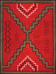 Image Meanings Navajo Rug Design Red And Brown With Black And Ivory Accents Pangaea Carpets And Area Rugs Navajo Rug Design Red And Brown With Black And Ivory Accents Area Rug