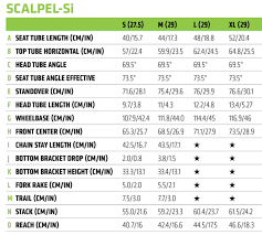 Cannondale Size Chart Height Scalpel Si Carbon 4