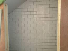 free white subway tile backsplash bathroom