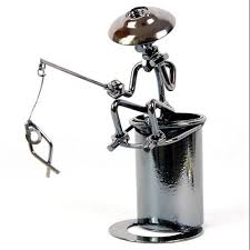 office pen holder. 2018 Cool Fashion Metal Fishing Pen Holder Office Desktop Decoration Pencil 2015 Hot Sale Style In Stock From Service, $30.16 | Dhgate.Com C