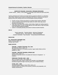 Long Term Substitute Teacher Resume Amazing Long Term Substitute Teacher Resume Resume Template For Free 1