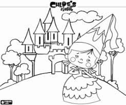 Kleurplaat De Prinses Chloe En Het Kasteel Kleurplaten