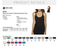 Personalized Next Level Ladies Triblend Racerback Tank 6733 Custom Made Racerback Tank Top With Vinyl Or Glitter Print