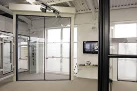 white crown 90 aluminium sliding door on display