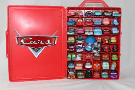 Disney Cars Fan Stand Display Case 100 Favorite Disney Cars and Disney Cars Carrying Case Rip 32
