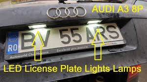 Audi A3 Led License Plate Lights Audi A3 8p Led License Plate Lights Lamps Canbus