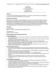 A Sample Of Resume 2 Examples 5 Latest