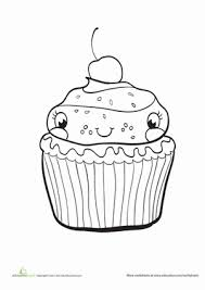 I have over forty cupcake coloring pages here. Cupcake Worksheet Education Com