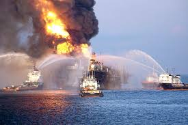 Video of part of the ocean in flames in the gulf of mexico has now been viewed more than 20 million times after a leak from a gas pipeline caused a fire off the yucatan peninsula. Explosion And Fire At Deepwater Drilling Rig In The Gulf Of Mexico Skytruth