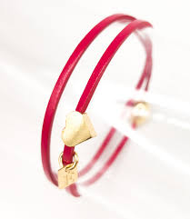 lipstick red leather bracelet for girls double romeo
